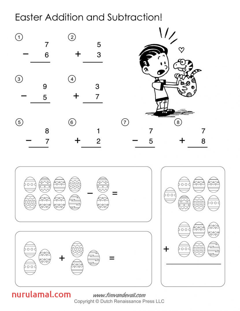 Math Worksheets Printable Easter Activities First Grade
