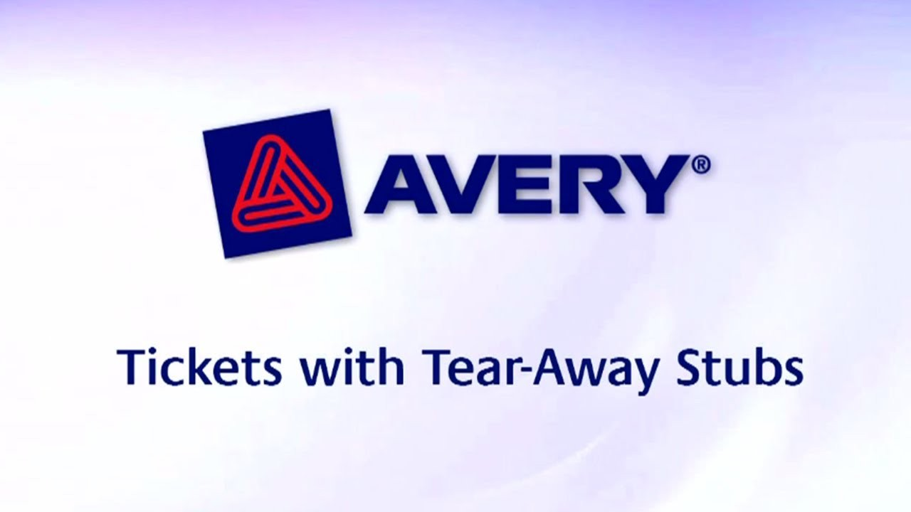 Maxresdefault Avery Raffle Ticket Template