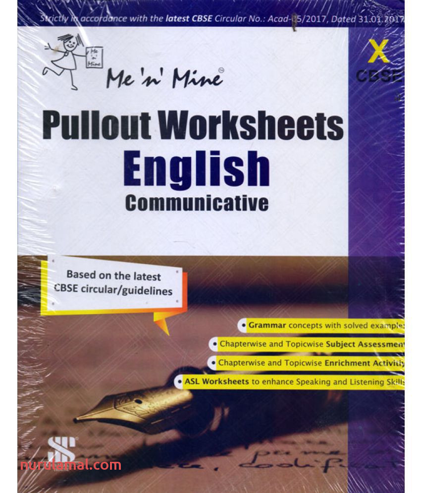 Me N Mine Pullout Worksheets English Municative Class 10