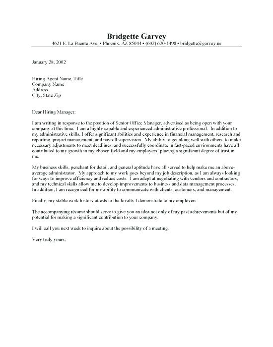 Medical Office Administrative Assistant Cover Letter