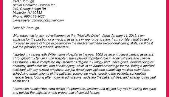 Medical Scribe Cover Letter Sop Examples
