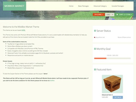 Minecraft Website Templates Buy Sell Your Website