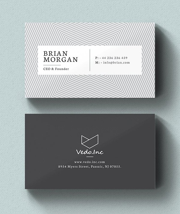 Minimalistic Business Card Designs Psd Templates