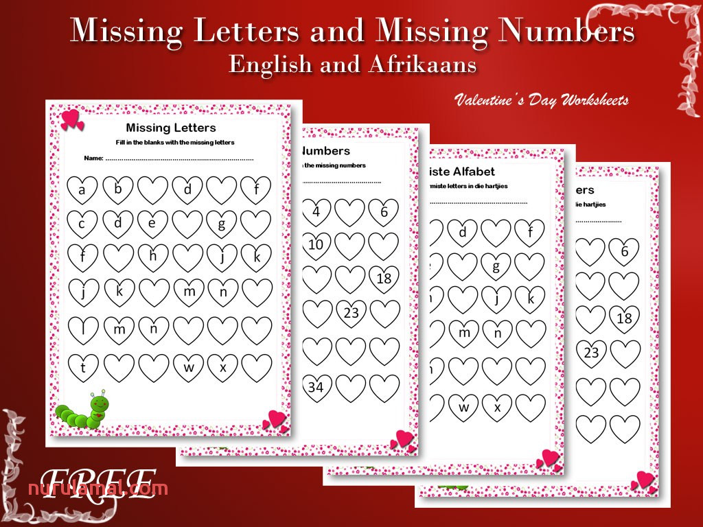 Missing Letters and Missing Numbers Teacha