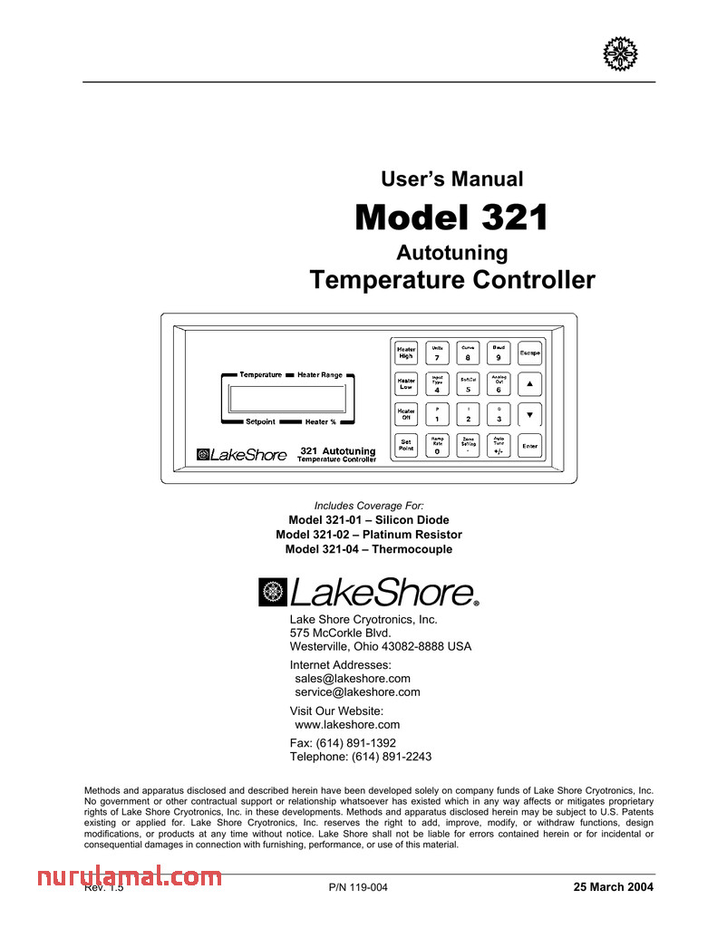 Model 321 Lake Shore Cryotronics Inc