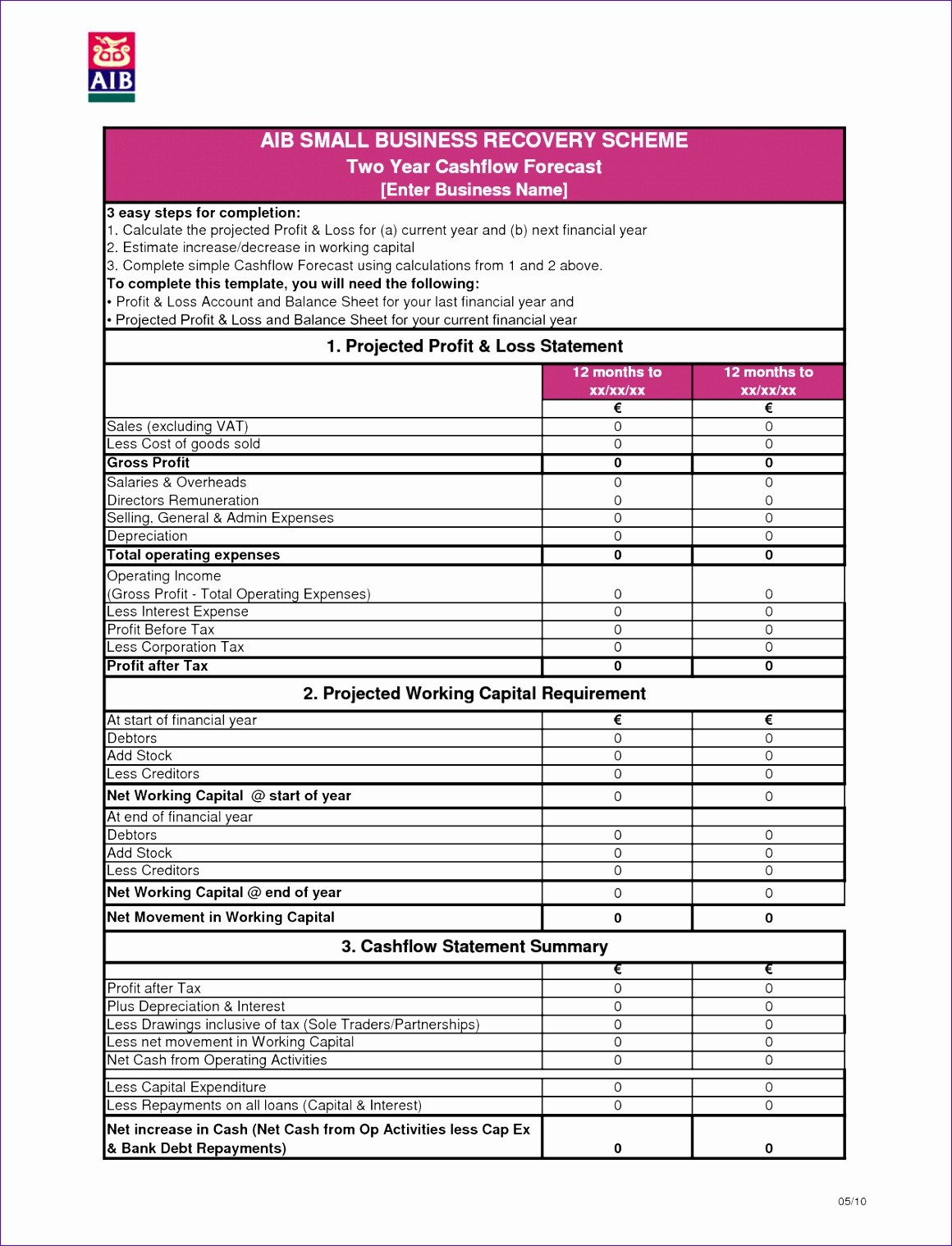 Monthly Financial Statement Template Excel
