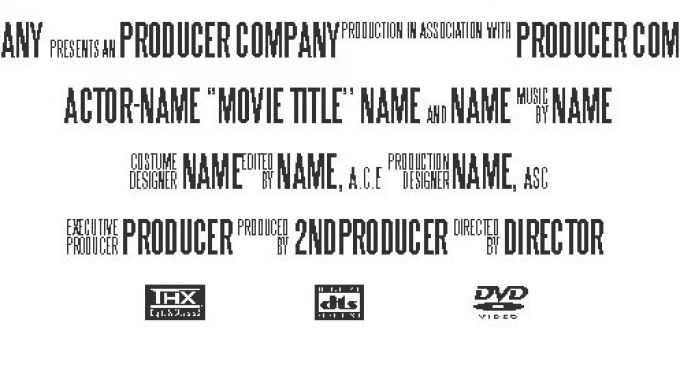 26+ Movie Poster Credits Template