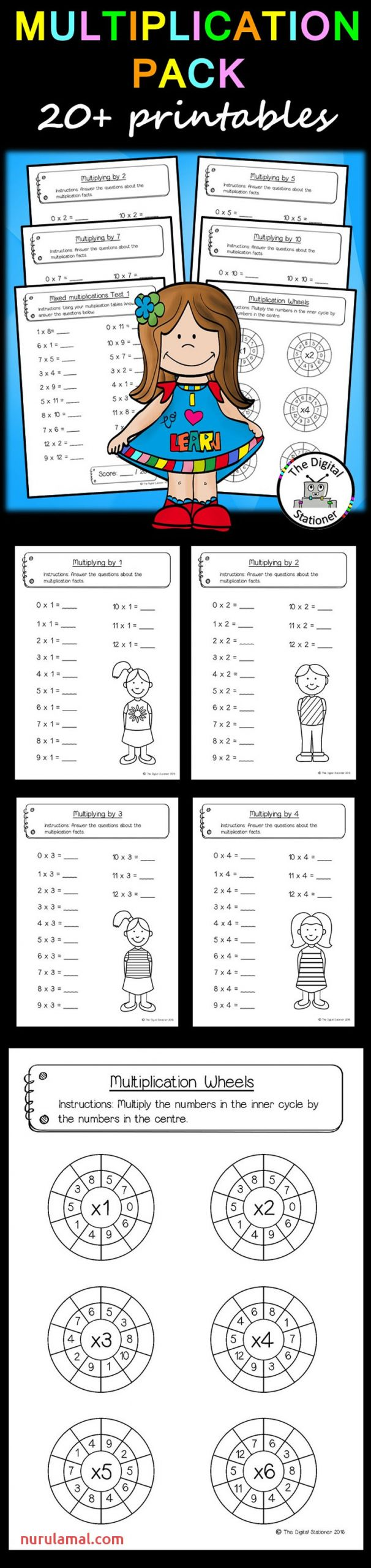 Multiplication Pack 12 X 12 20 Printables