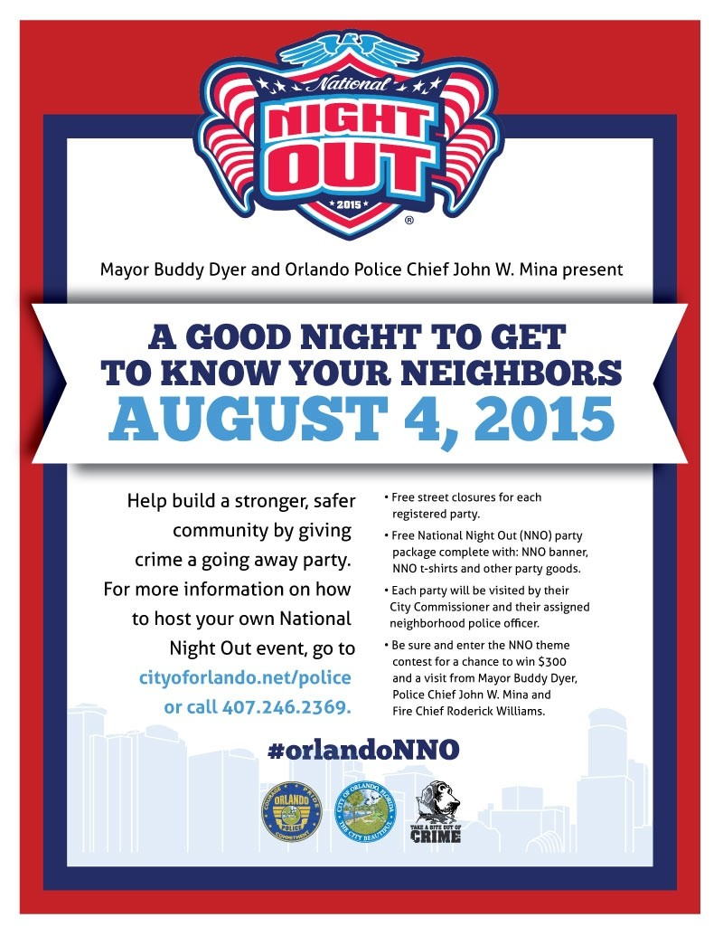 National Night Out Flyer Template