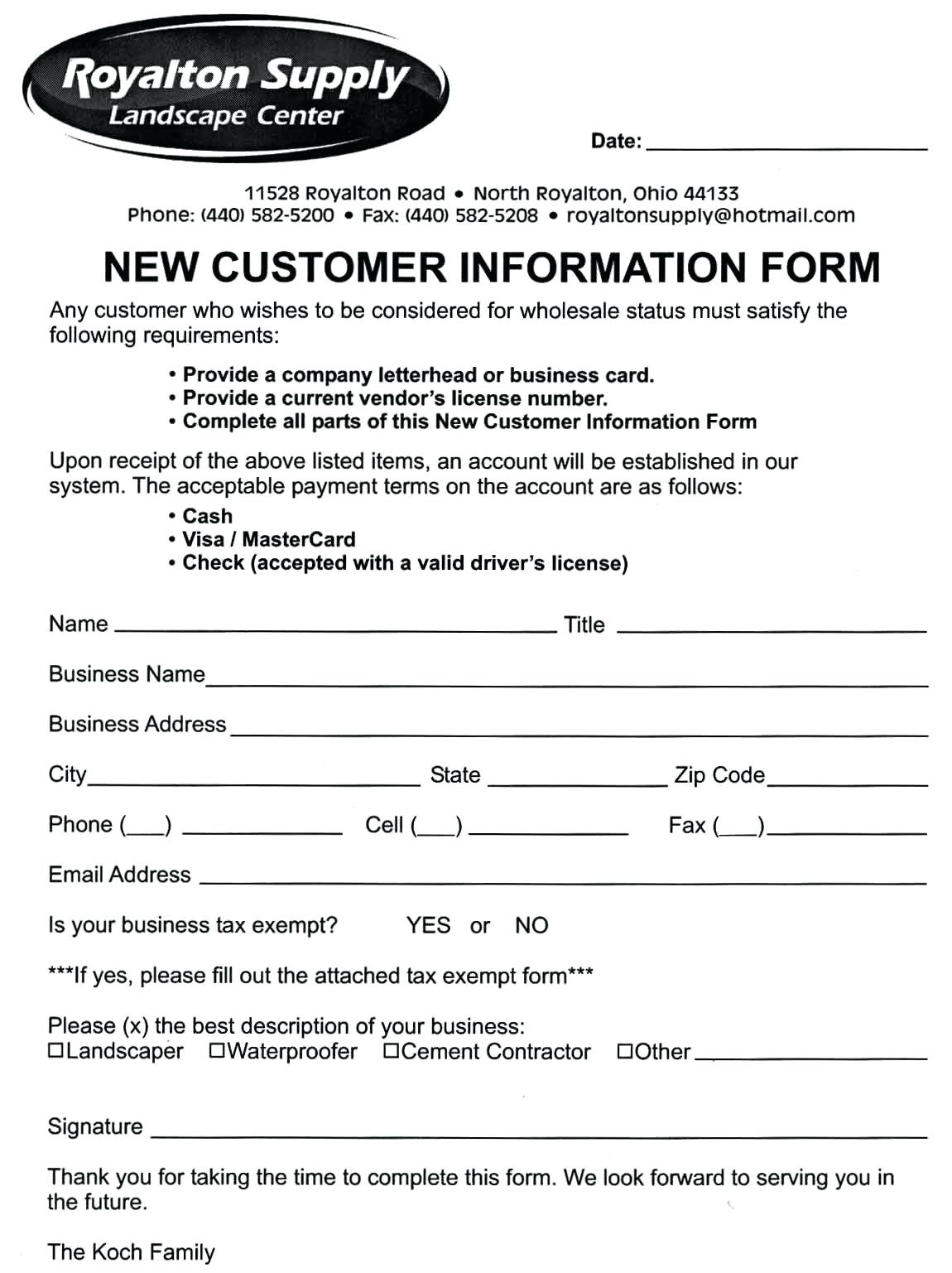 New Customer Form Template Word Tier.brianhenry.co