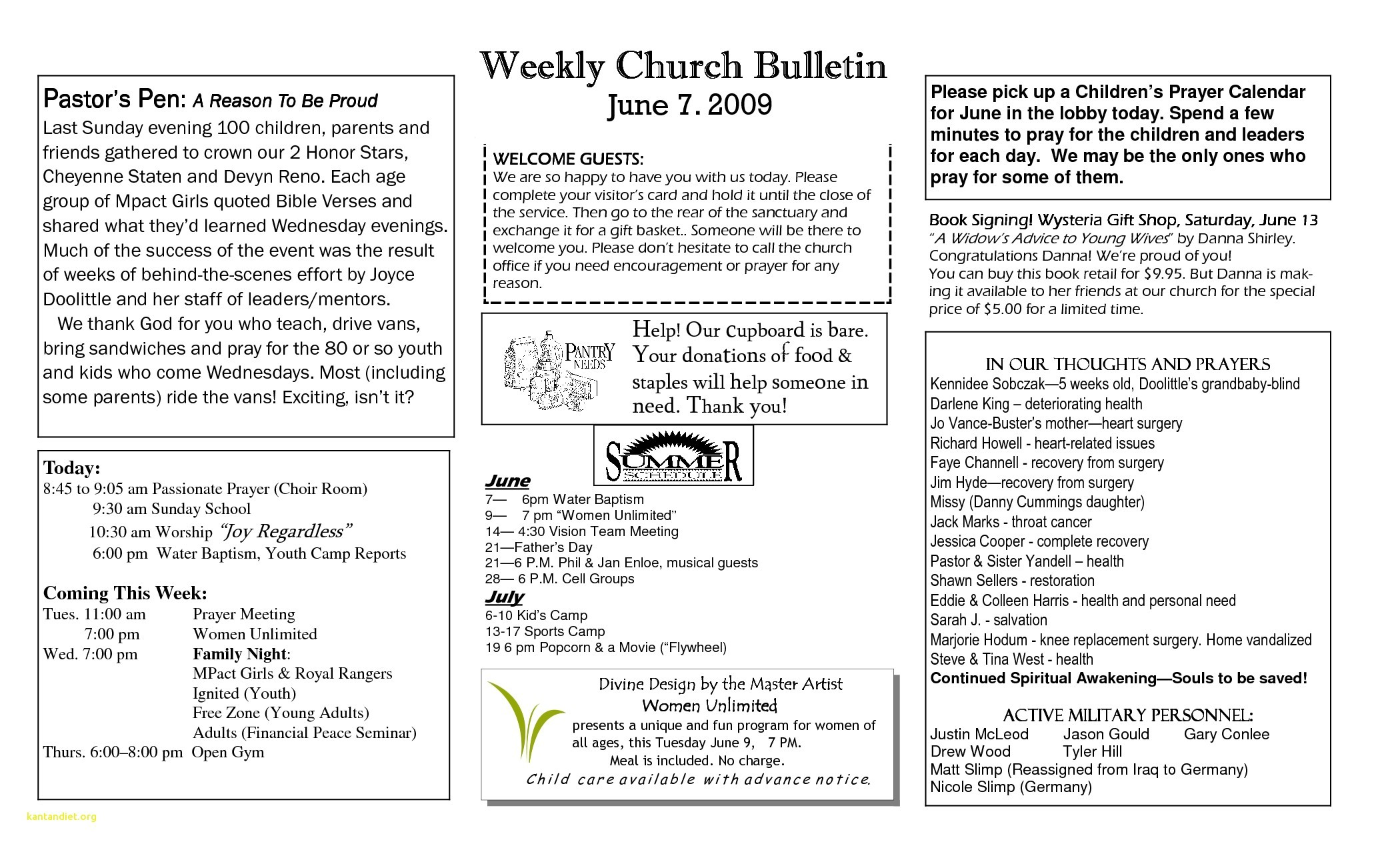 graphic relating to Free Printable Church Bulletin Templates titled Fresh new Absolutely free Printable Church Application Templates Downloadtarget