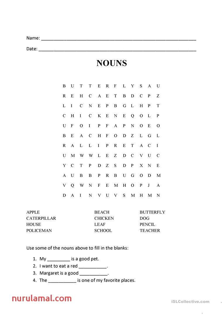 nouns word search puzzle wordsearches 1