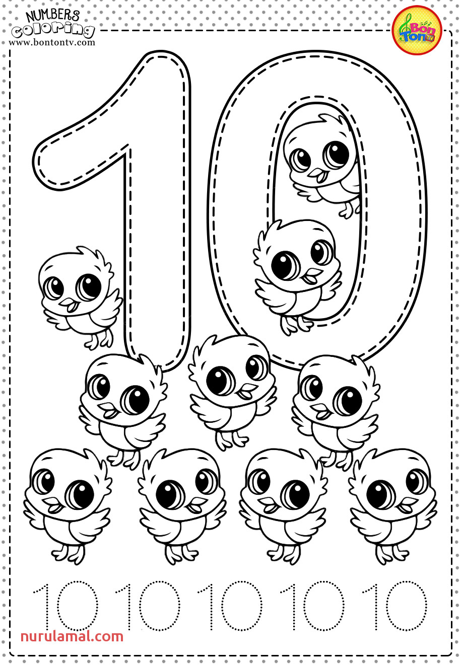 Number 10 Preschool Printables Free Worksheets and