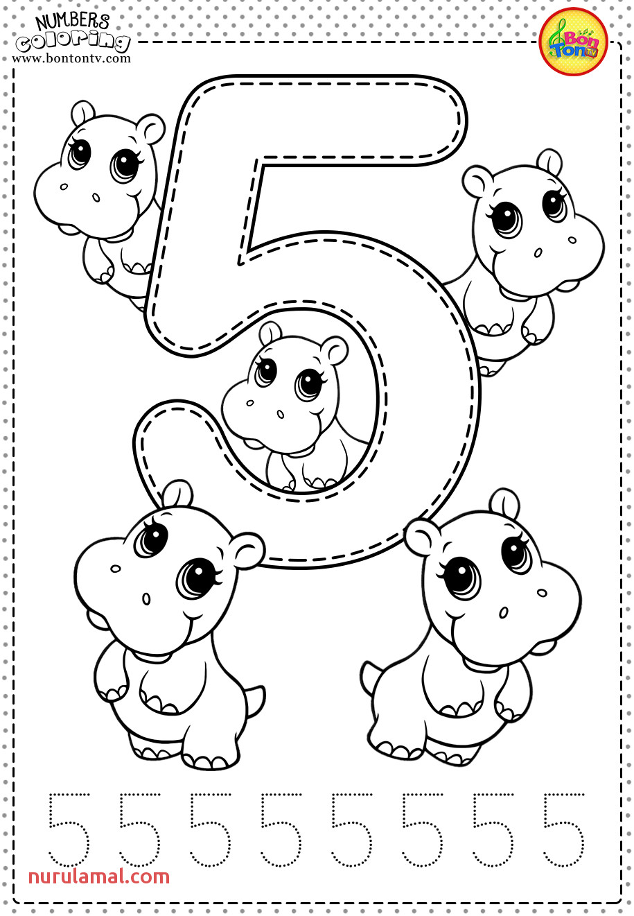 Number 5 Preschool Printables Free Worksheets and