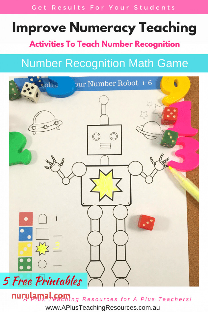 Number Colouring Math Game Number Recognition A Plus