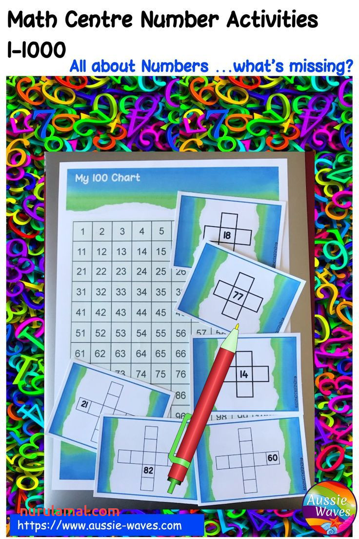 Number Patterns Math Centre Activities