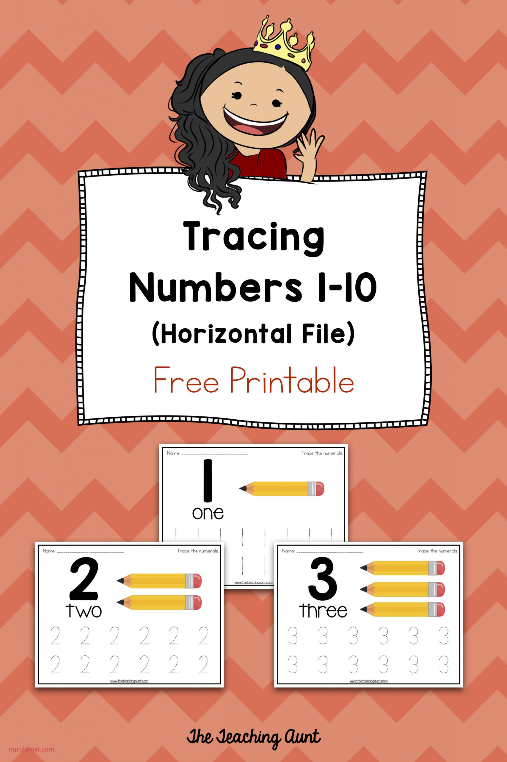 Number Tracing Worksheets for Children the Teaching Aunt