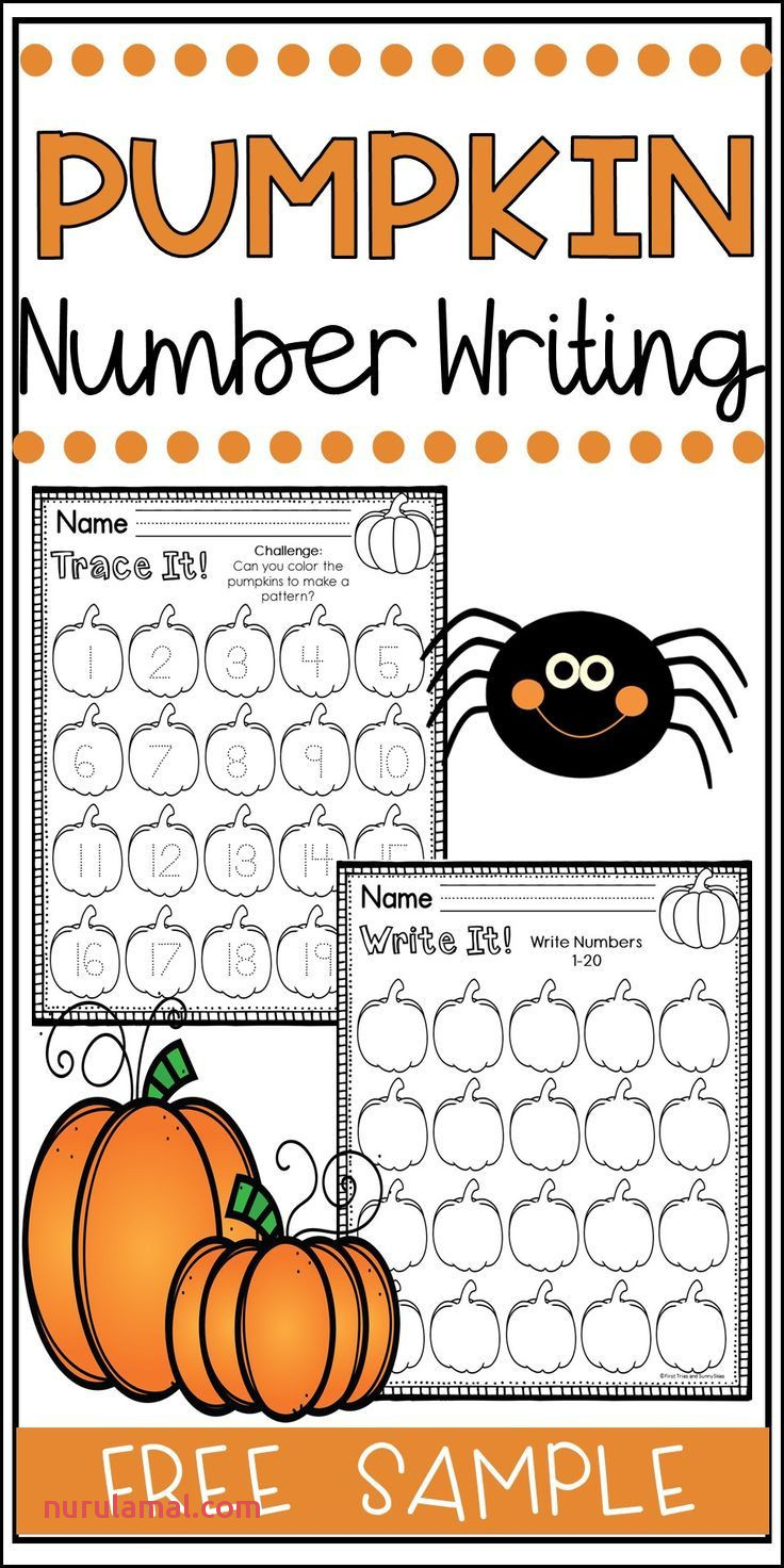 Number Writing Pumpkin Numbers Halloween Number Writing