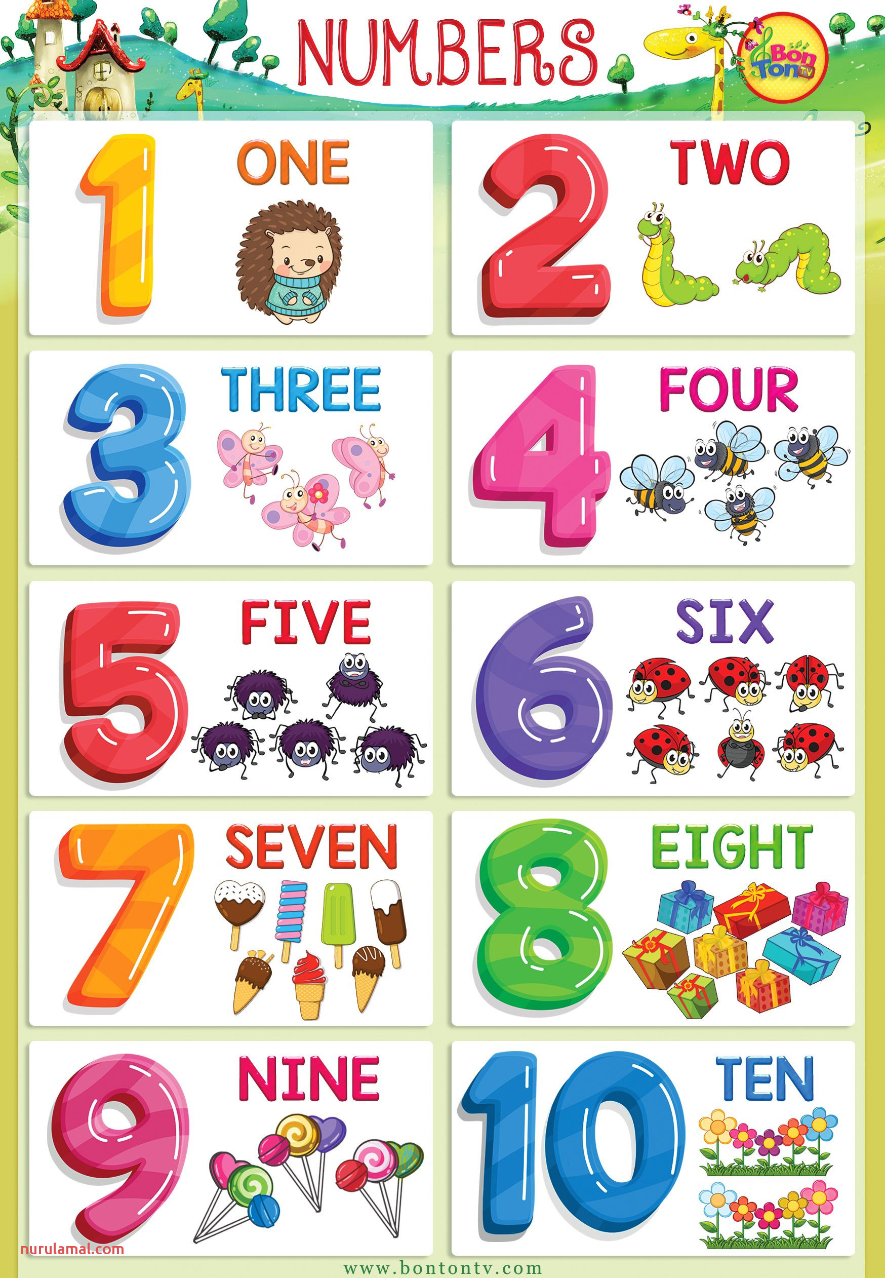 Numbers Poster Numbers 1 10 for Kids Math Printable