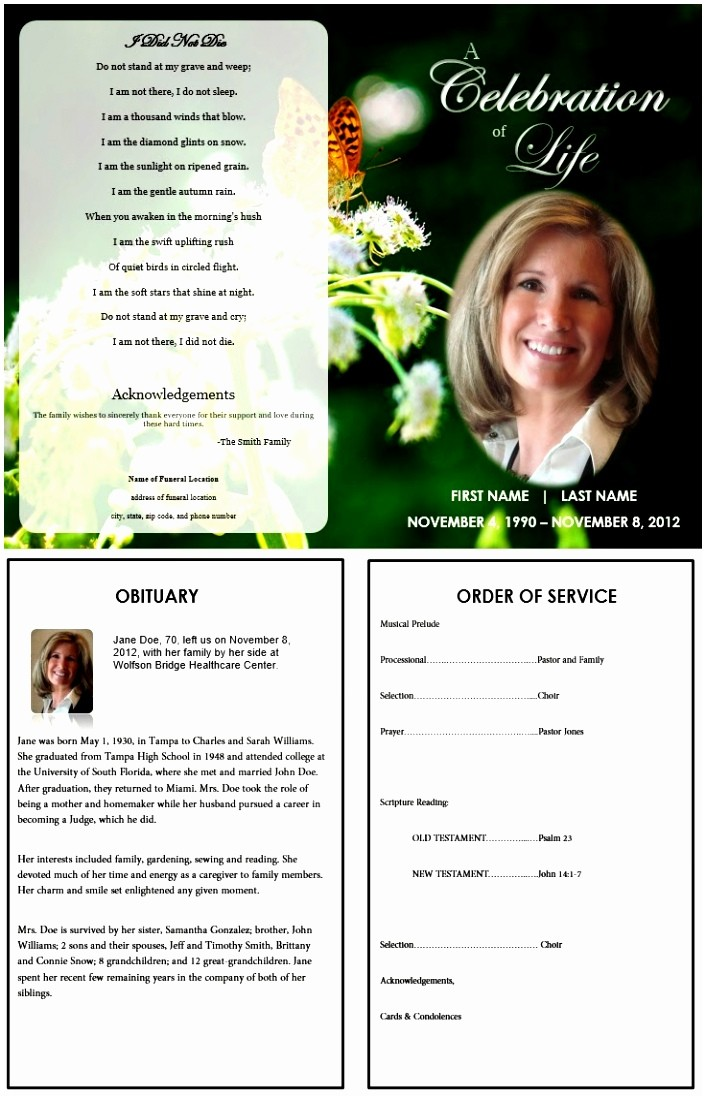 Free Download Obituary Template Microsoft Word
