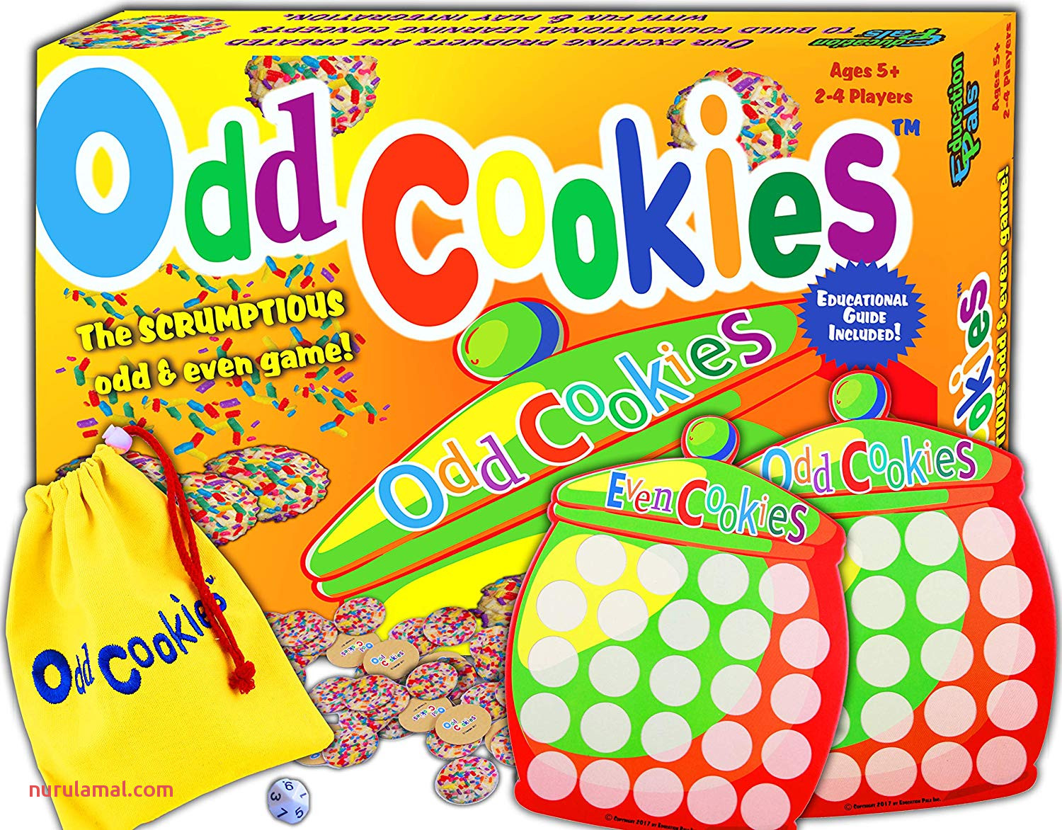 Odd Cookies™ Cool Math Games for Kids Best Counting & Odd & even Learning Board Game – top Educational toys to Play for Boys & Girls & Family –