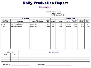 Office Template Daily Production Report