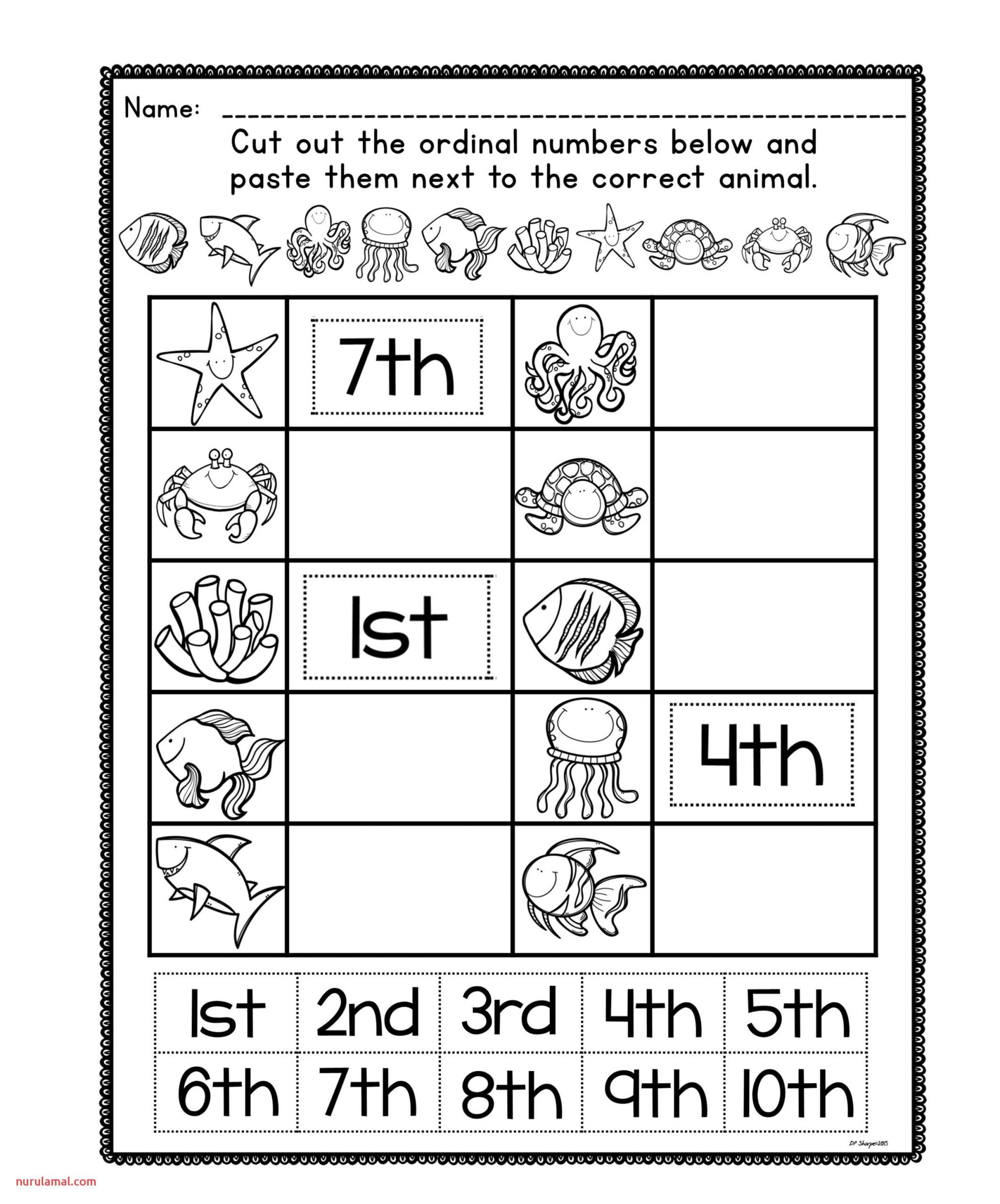 Ordinal Number Posters and Worksheets