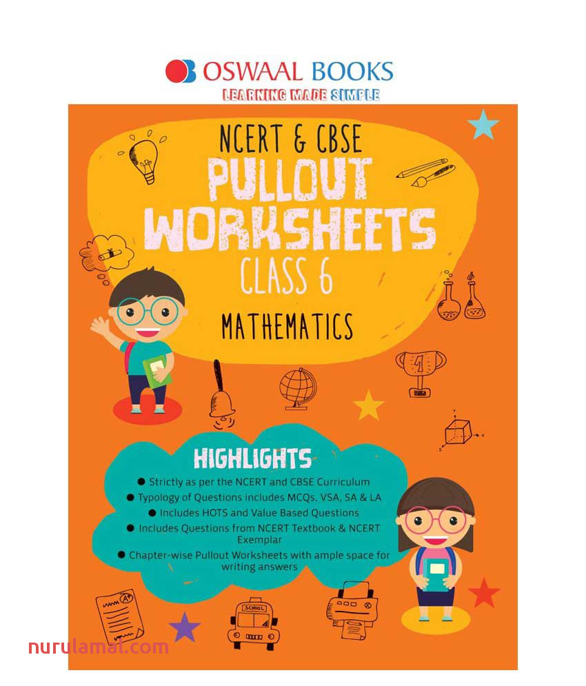 Oswaal Ncert & Cbse Pullout Worksheets Class 6 Mathematics Book for March 2020 Exam