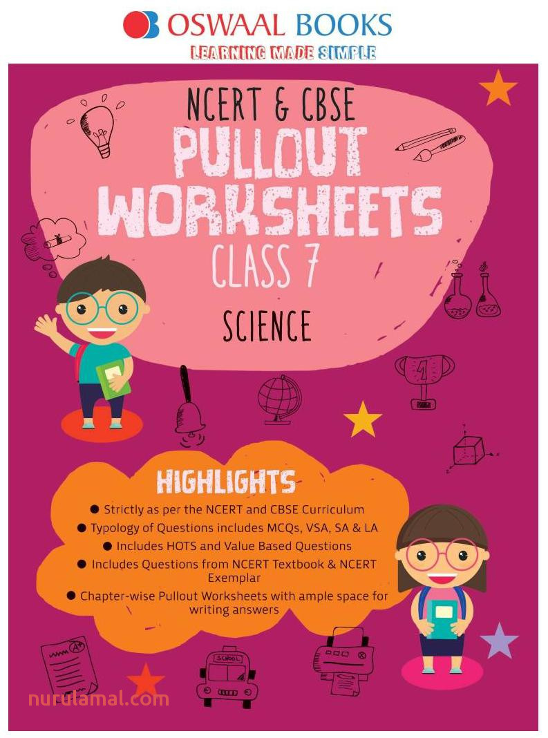 Oswaal Ncert & Cbse Pullout Worksheets Class 7 Science Book for March 2020 Exam Book