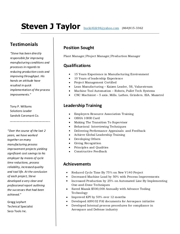 Outstanding Cnc Machinist Resume Format Frieze Resume