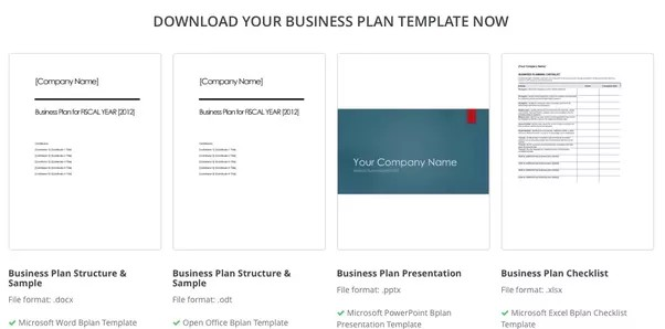 Page Templates. Best Business Plan Template Example Page