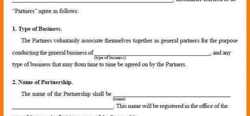 30+ Business Partnership Agreement Template Free Download