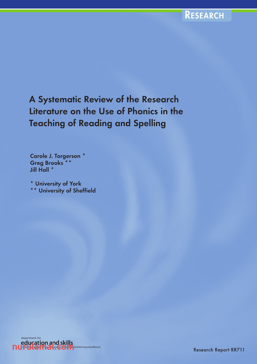 Pdf A Systematic Review Of the Research Literature On the