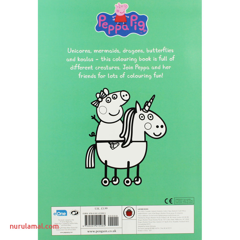 Peppa Pig Colourful Creatures Colouring Book by Penguin