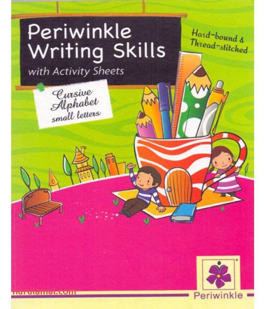 Periwinkle Writing Skills with Activity Sheets Cursive Alphabet Small Letters