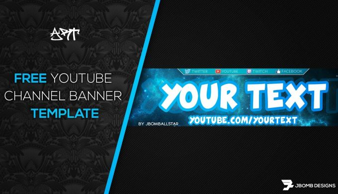 Photoshop Free Hd Youtube Channel Banner Template