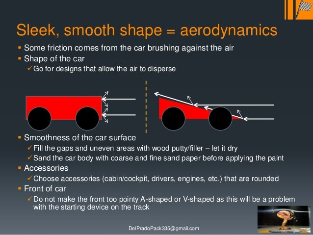 Pinewood Derby Aerodynamic Designs Aerodynamic