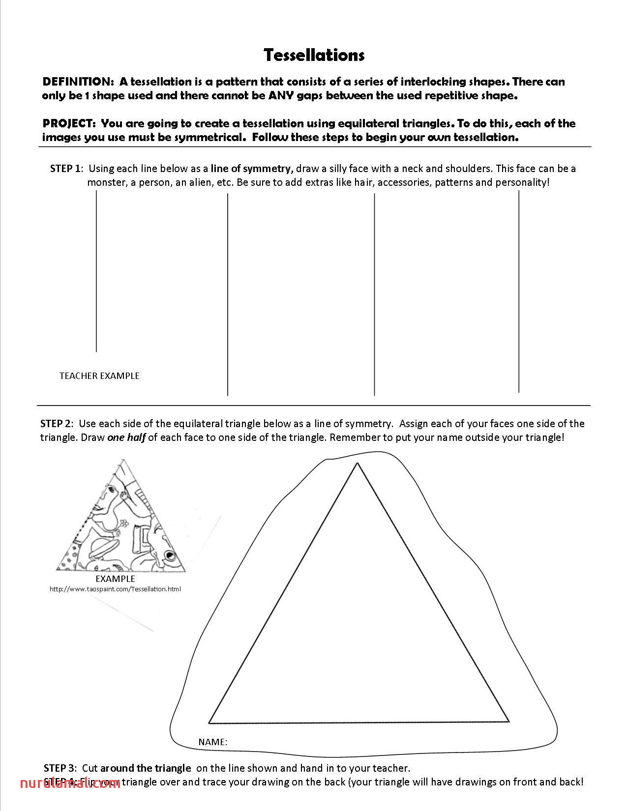 Polygon Art Worksheet