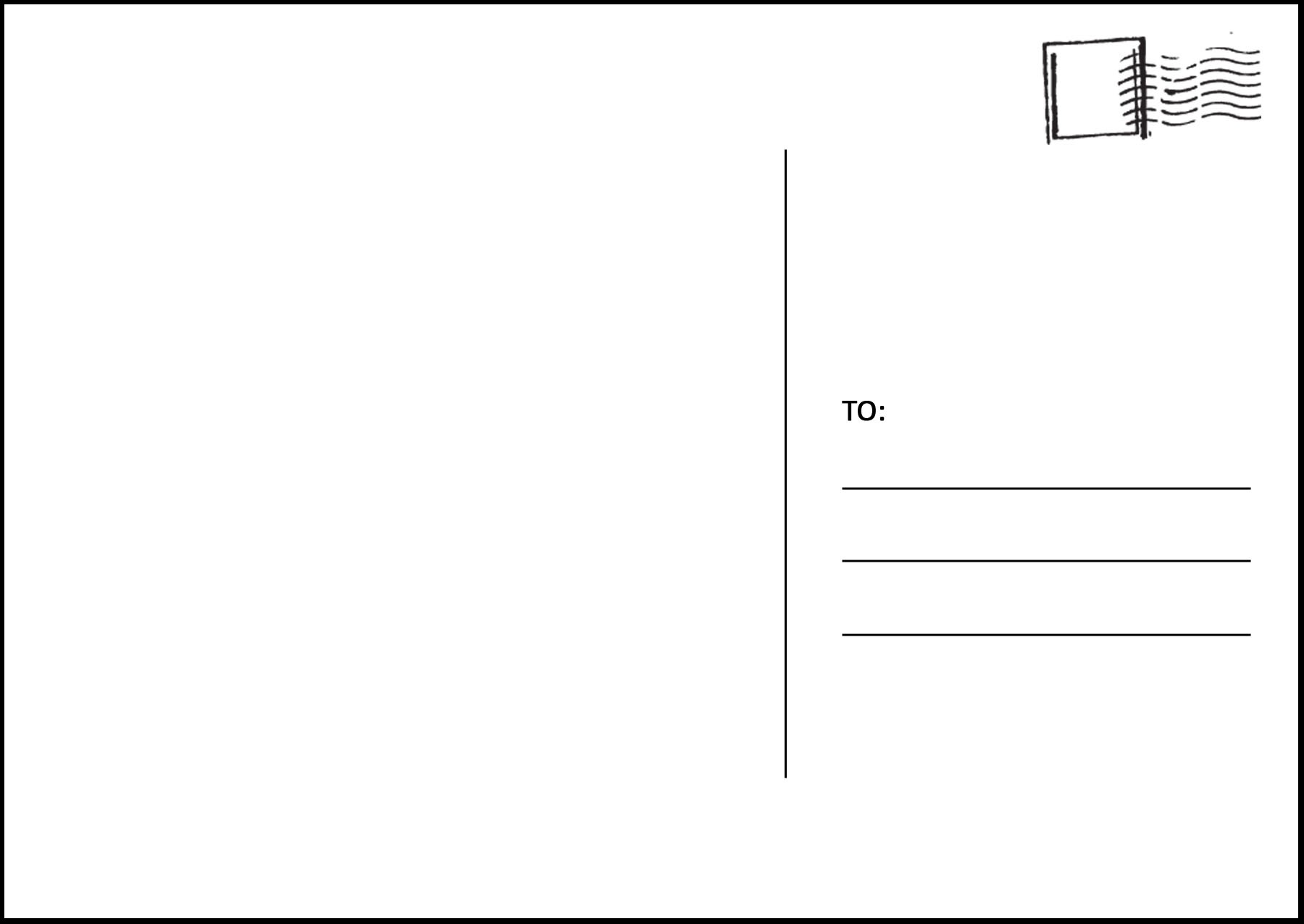 Postcard Clipart Template Pencil And In Color Postcard