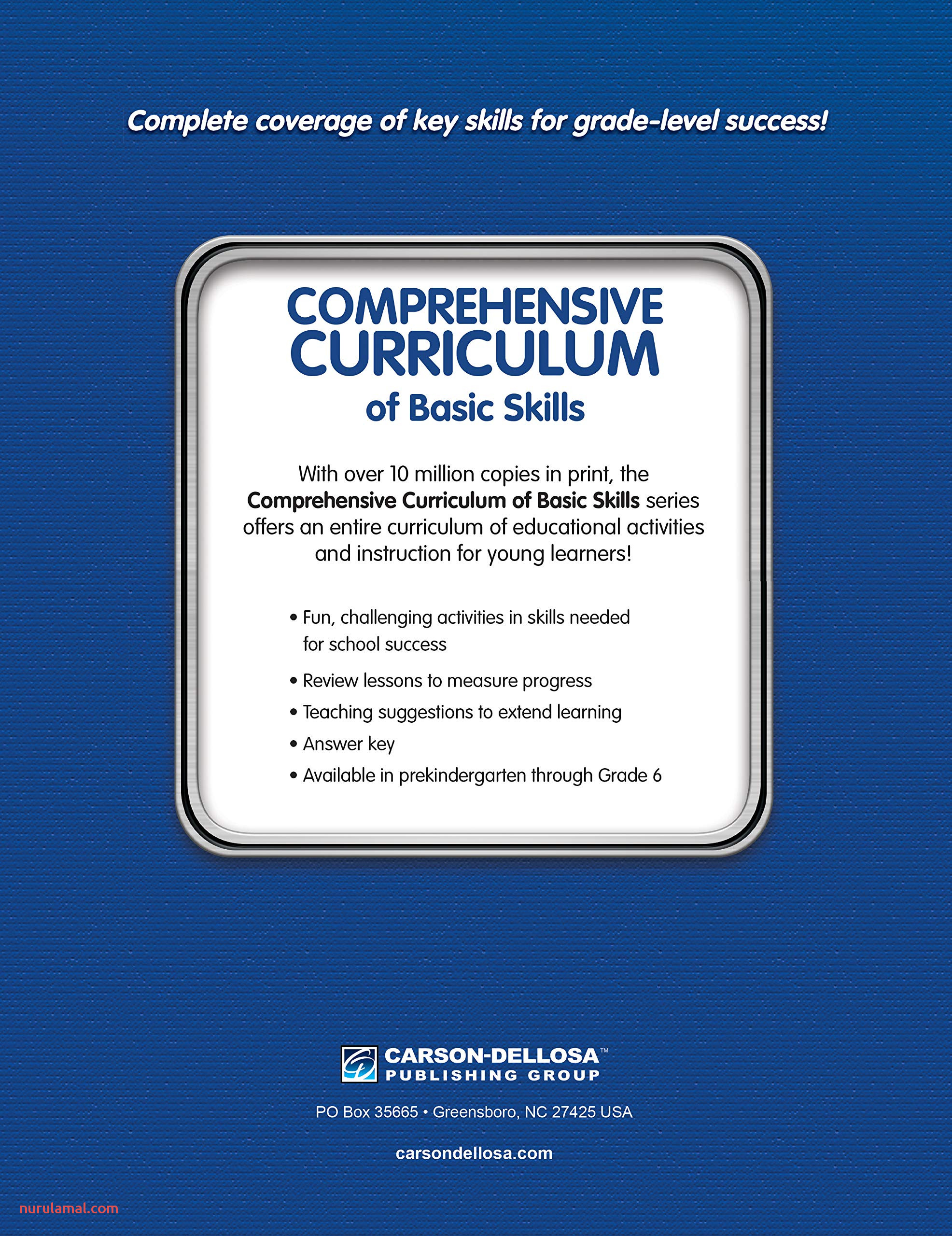 Prehensive Curriculum Of Basic Skills Workbook for Grade