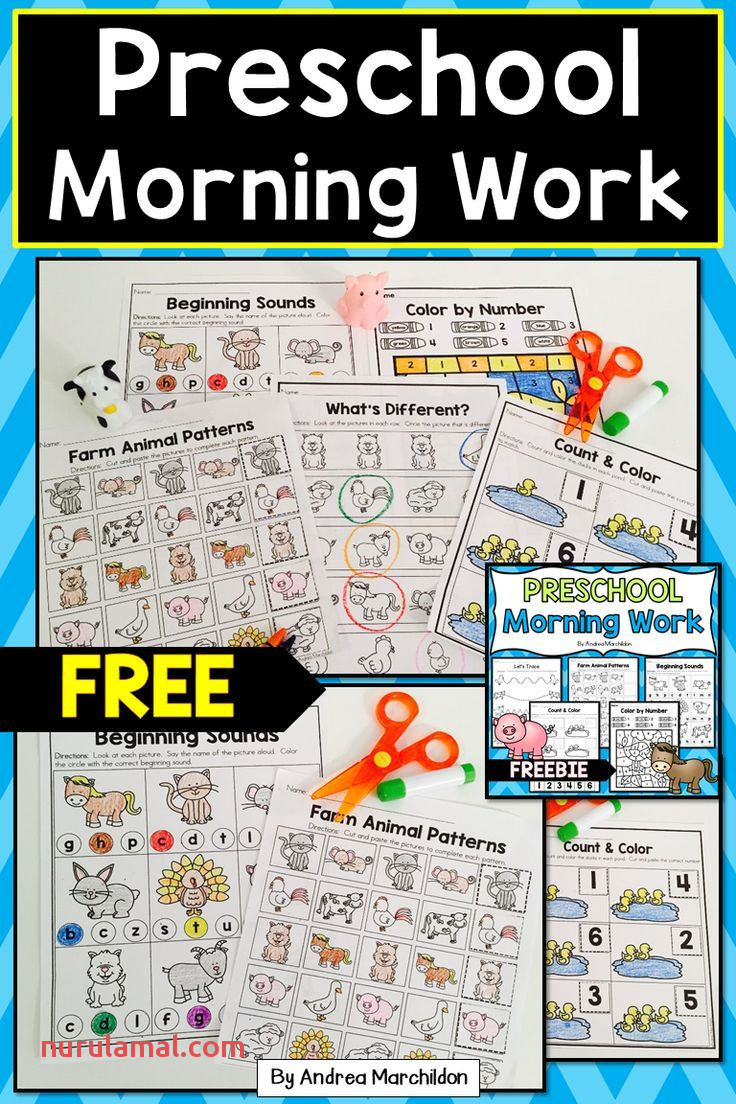 Preschool Morning Work Free