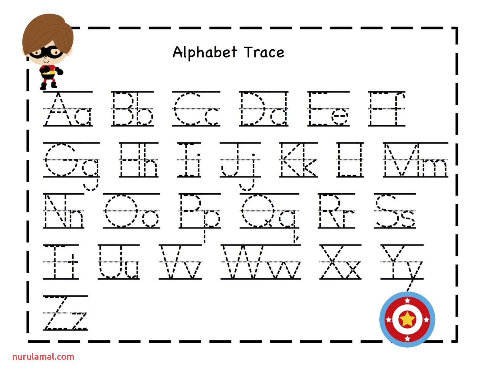 Preschool Printables Abet Tracing Sheet From