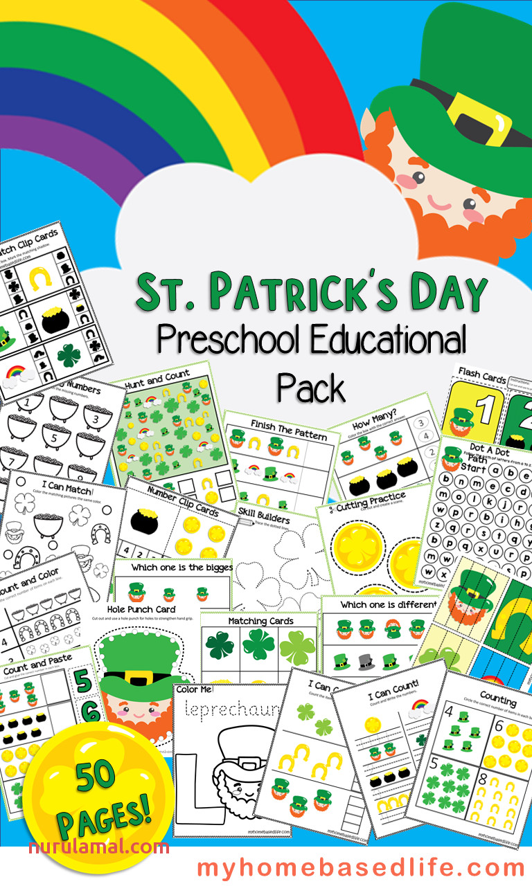 Print and Enjoy This 50 Page St Patrick S Day Preschool