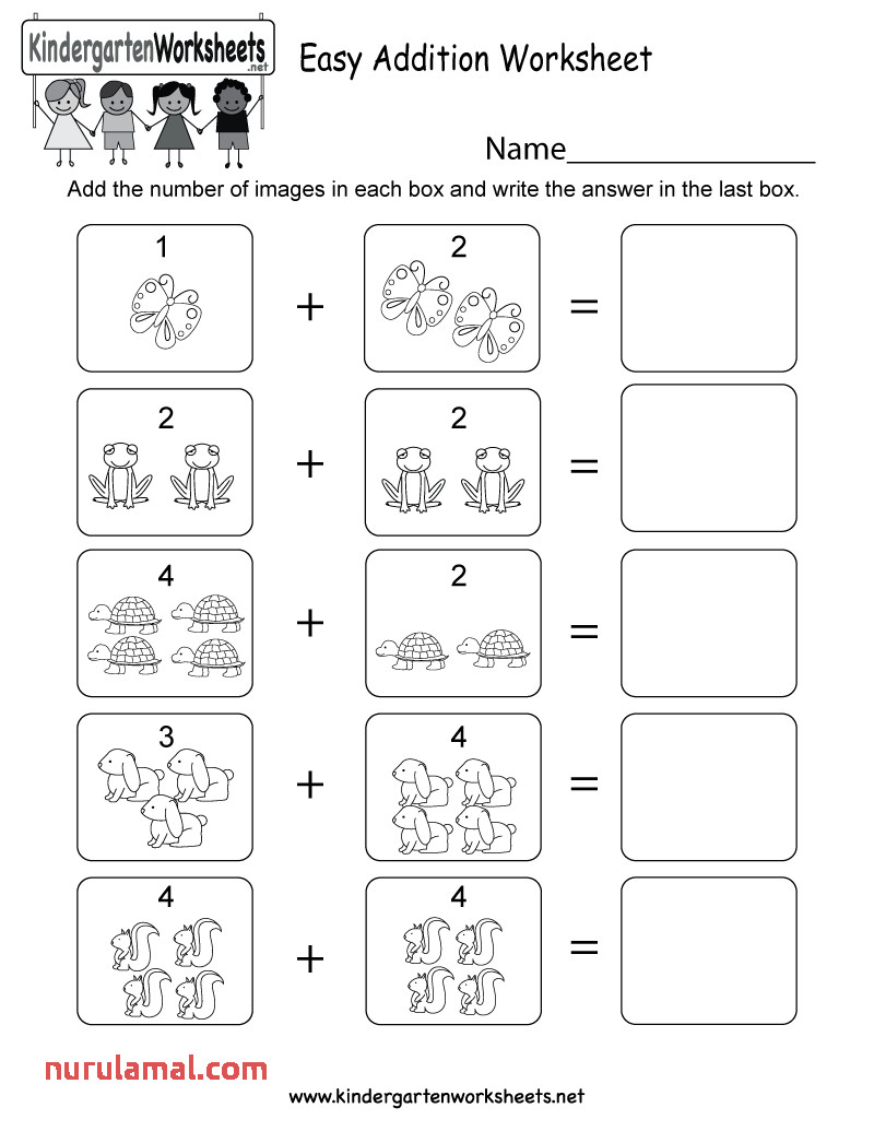 Printable Addition Worksheets for Kindergarten that are