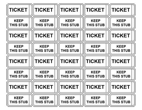 Printable Admission Tickets Without Numbers Crafts
