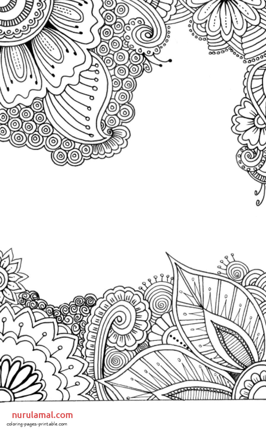 flower coloring pages for adults 119 GIF