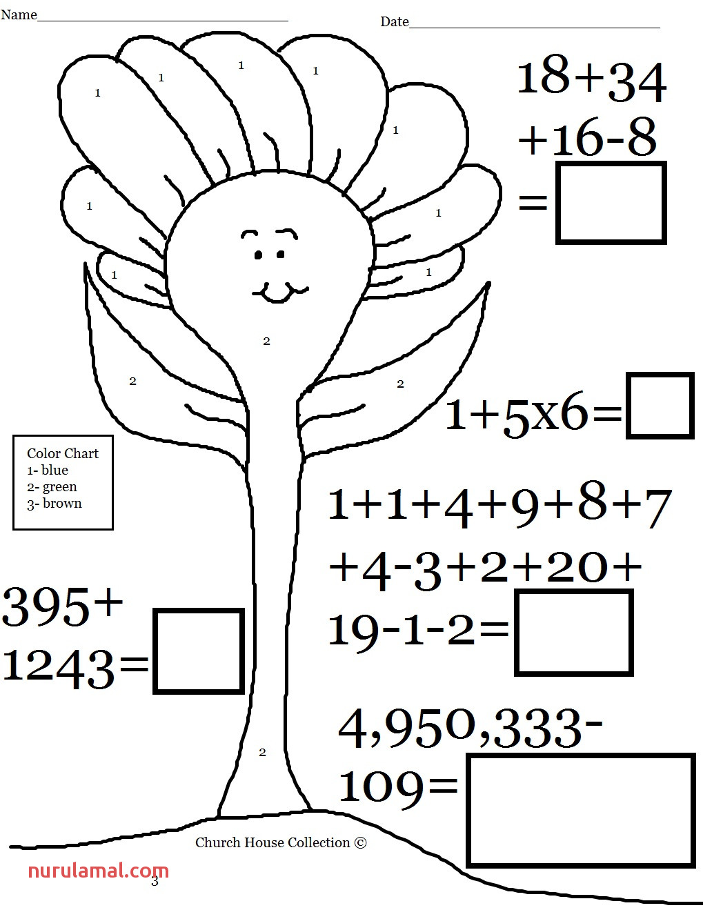 Printable Coloring Pages with Math Problems Pusat Hobi
