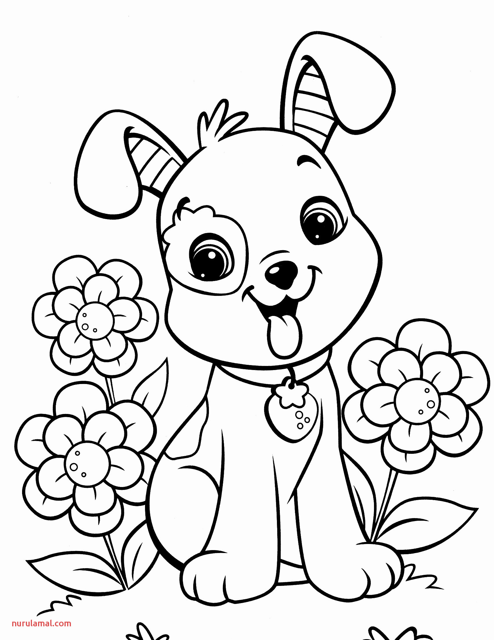 Printable Dog Coloring Pages Awesome Free Cute Dog Coloring