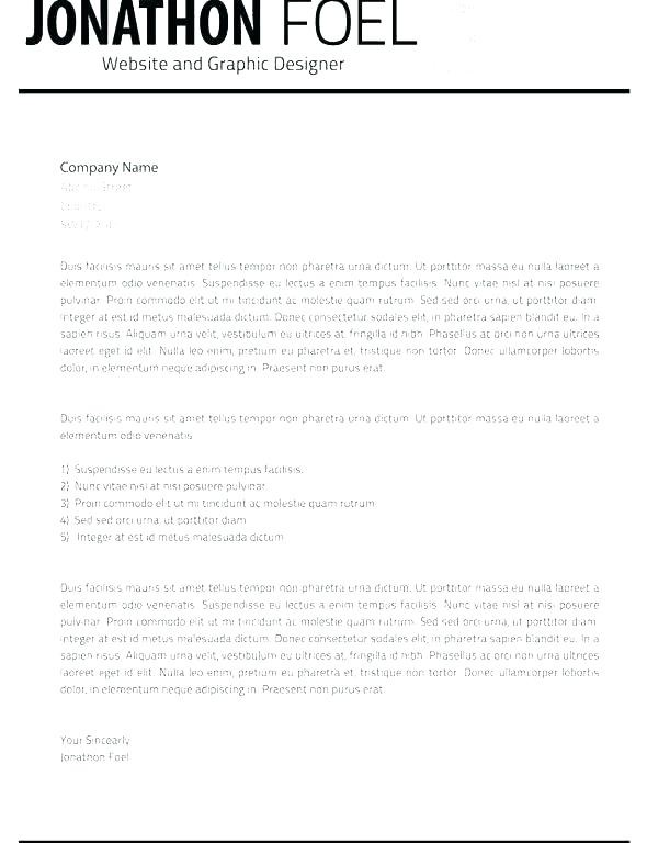 Printable Letterhead Template Free Business Letter Heading