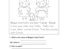 Printable Literacy Worksheets Reading Prehension for